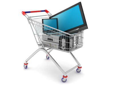 computers in cart